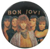 Bon Jovi - 'Group Black' Button Badge